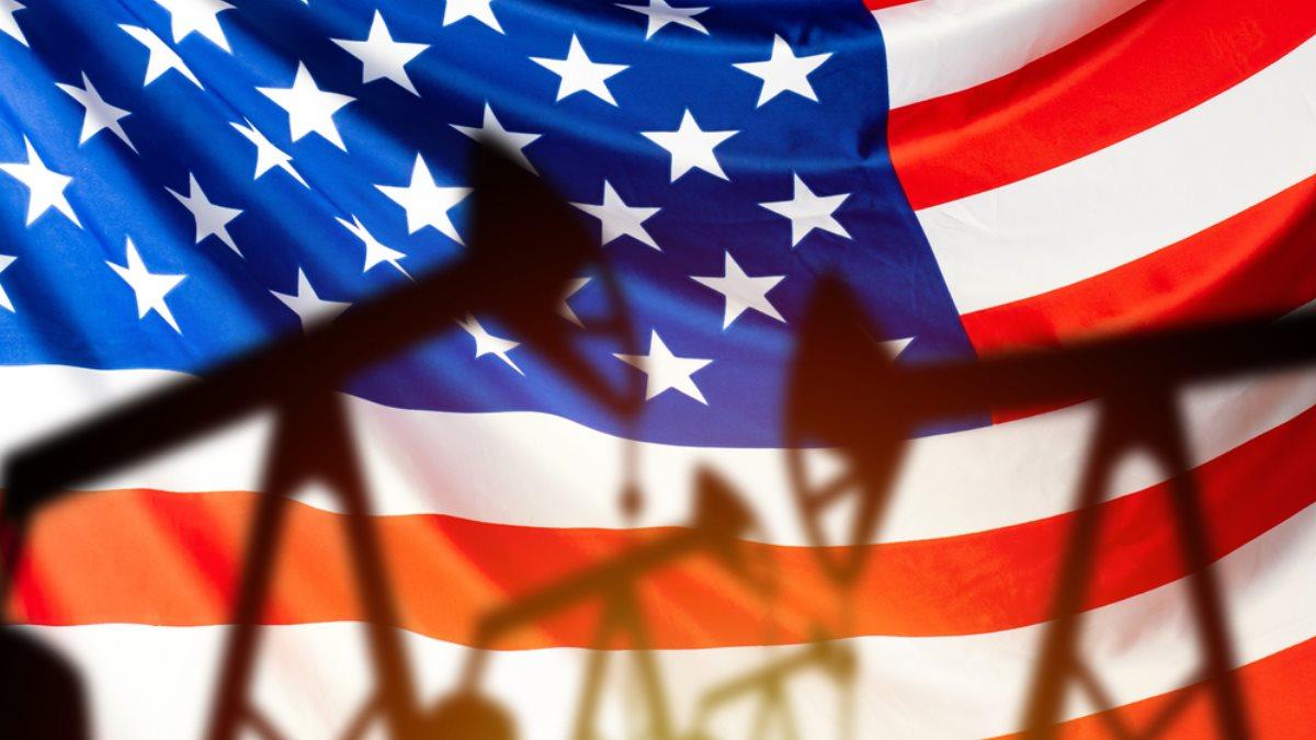США Америка нефть флаг