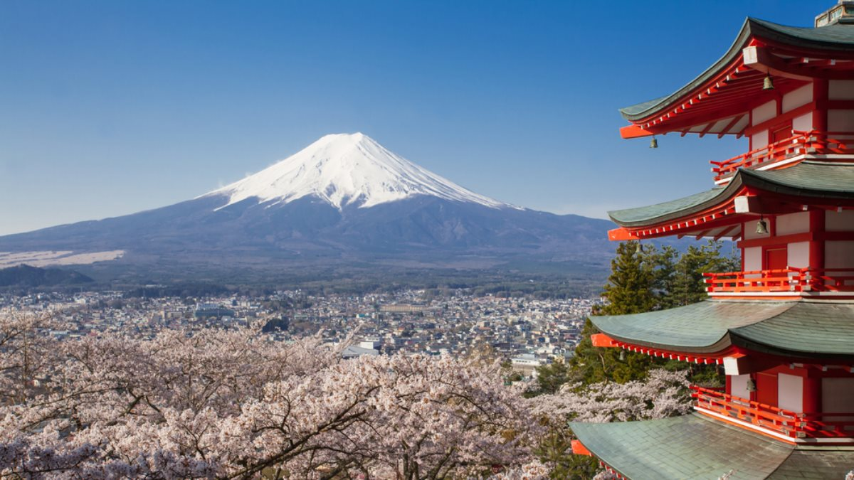 Гора Фудзияма Япония туризм