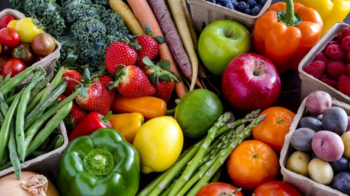 Фрукты овощи ягоды бобы клетчатка