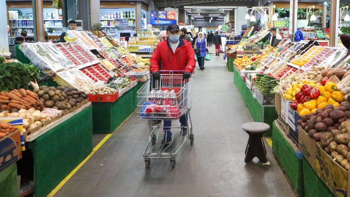Коронавирус Рынок магазин фрукты овощи
