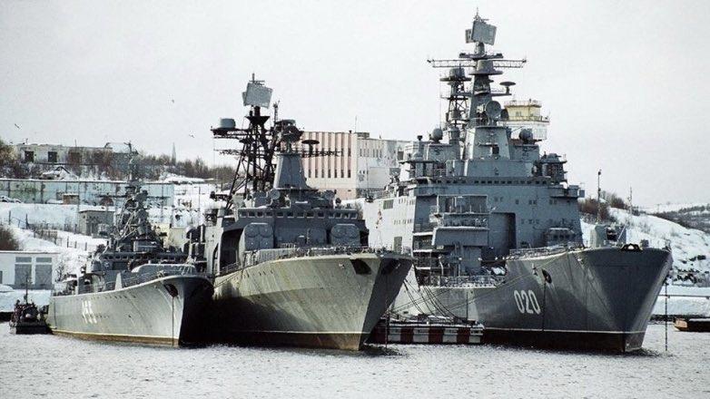 Корабли Северного флота у причала