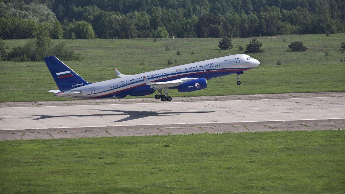Самолёт наблюдения Ту-214ОН Договор по открытому небу два