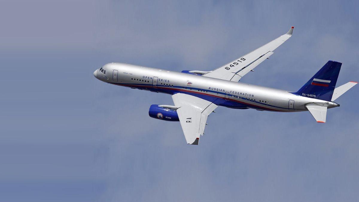 Самолёт наблюдения Ту-214ОН Договор по открытому небу один