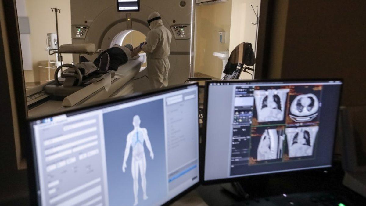 Коронавирус компьютерная томография рентген больница два