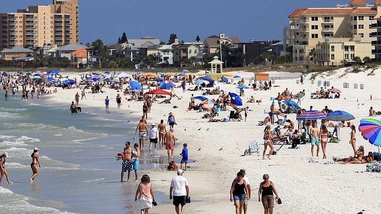 дистанцирование на пляже