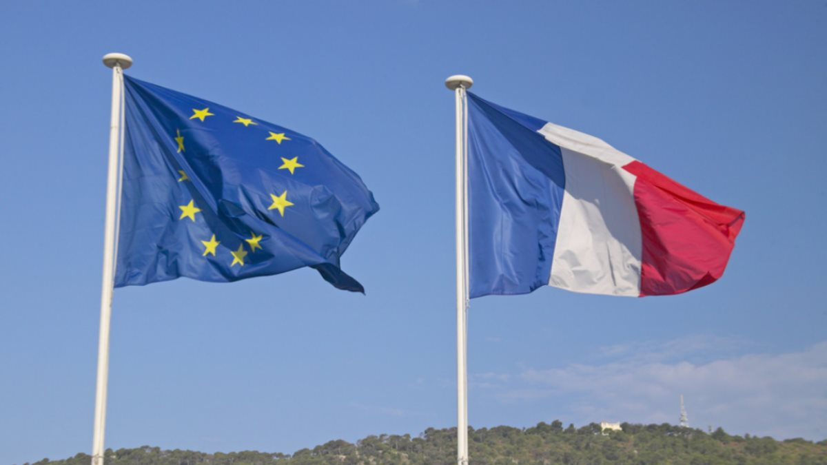 Евросоюз ЕС Франция флаги