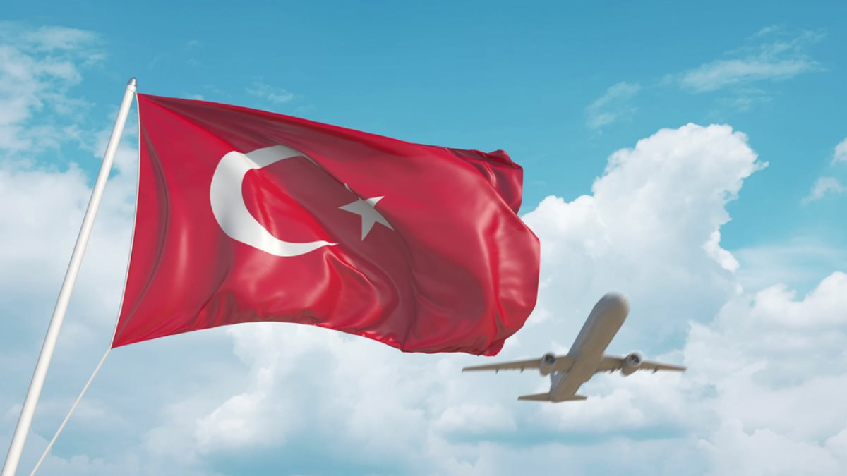 Турция флаг пассажирский самолёт туризм