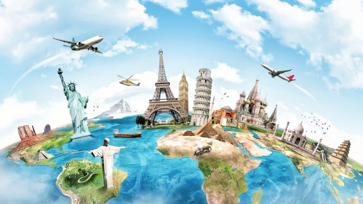Путешествие по Миру достопримечательности страны туризм два