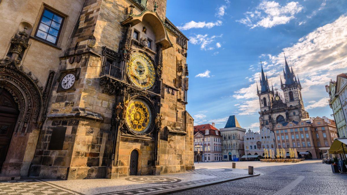 Прага Чехия Староместская площадь туризм