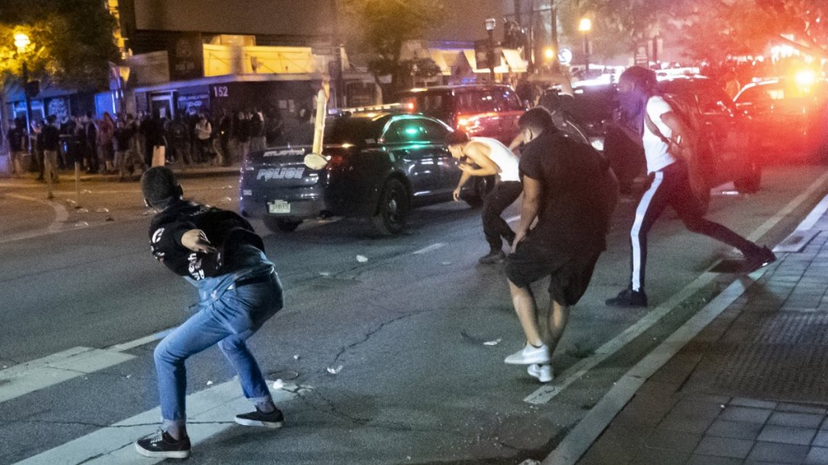 Атланта США беспорядки протесты