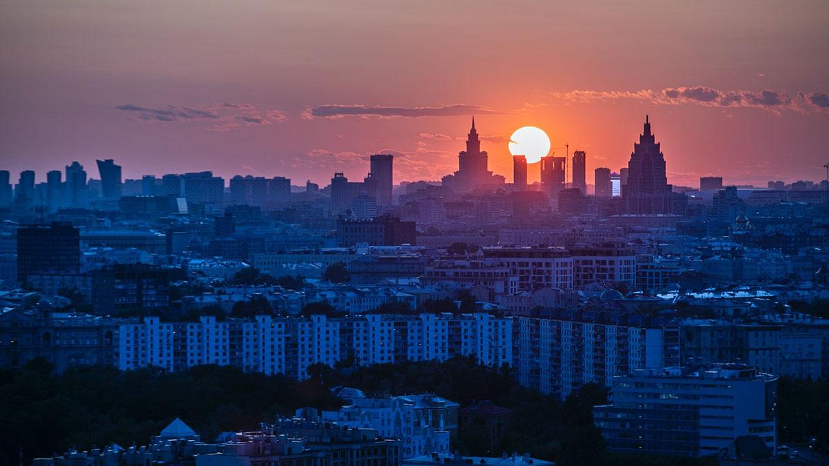 Москва закат восход