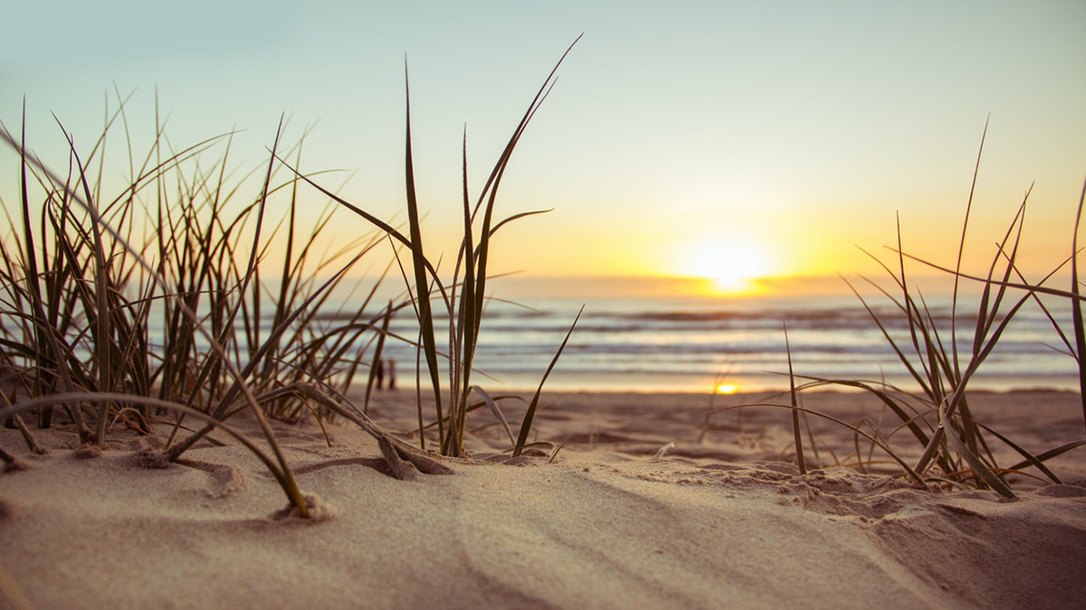 Пляж Закат Восход Рассвет Песок Море