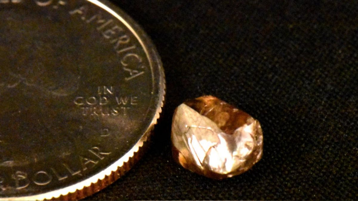 Бабушка погуляла с внучками в парке и нашла крупный алмаз