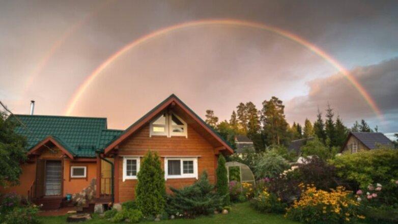 Дача загородный дом участок радуга