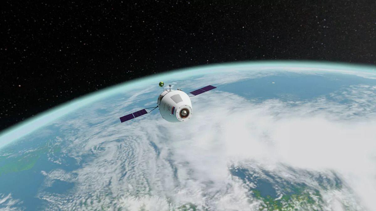 Космический корабль Орёл далеко