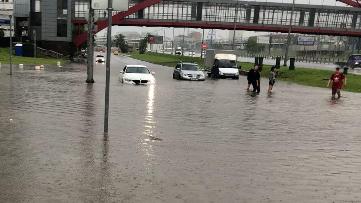 Подтопление в Москве потоп