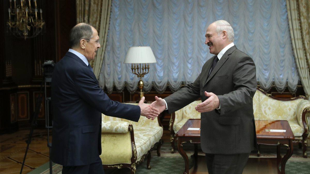 Сергей Лавров и Александр Лукашенко встреча