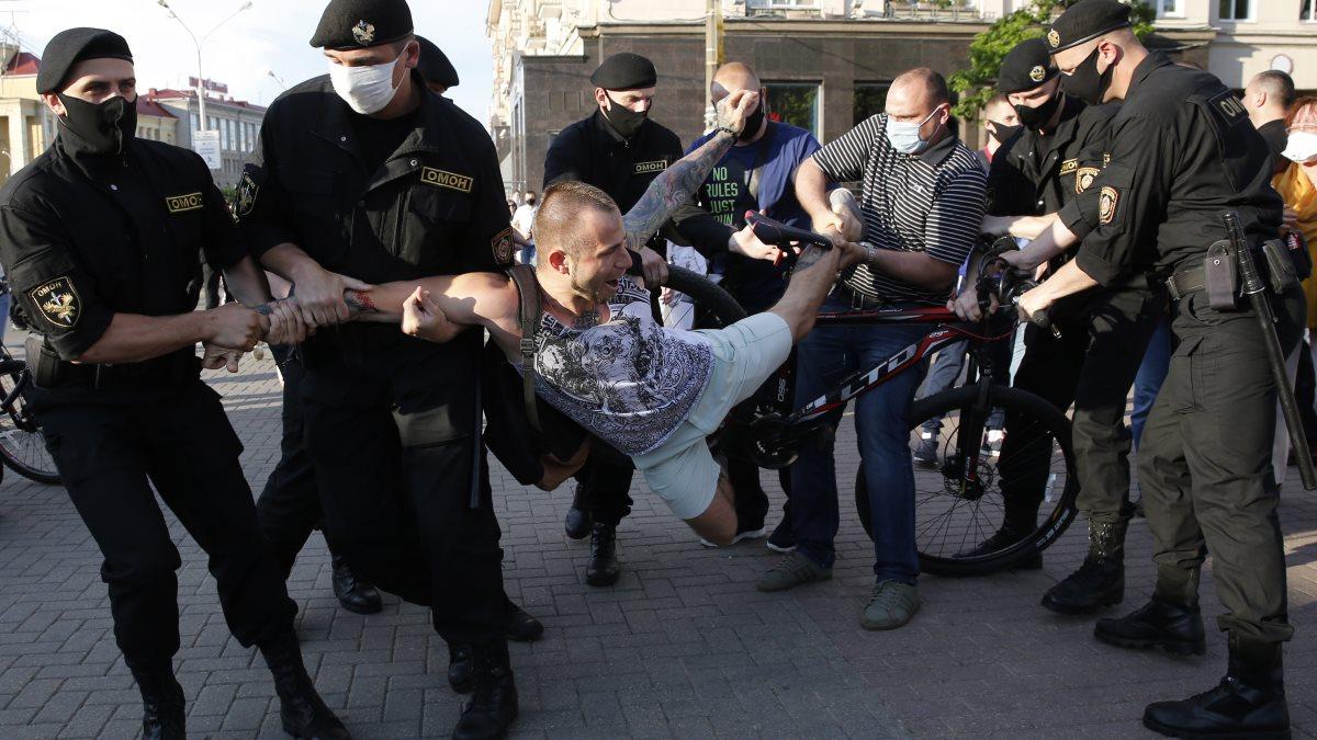 Акция в Минске в поддержку оппозиции Белоруссия