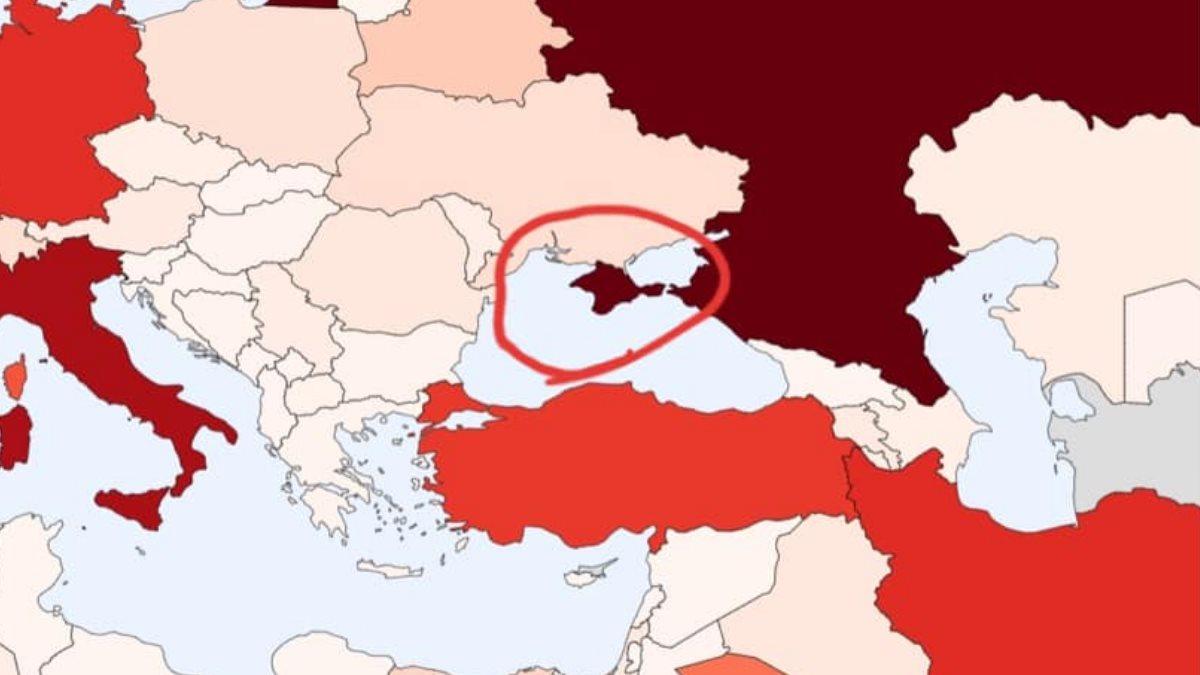 Украина потребовала исправить карту с Крымом