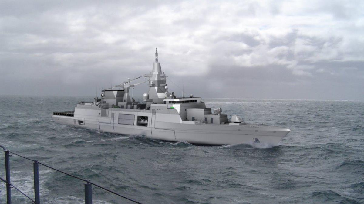 Возможный облик многоцелевого фрегата класса MKS180 Германия