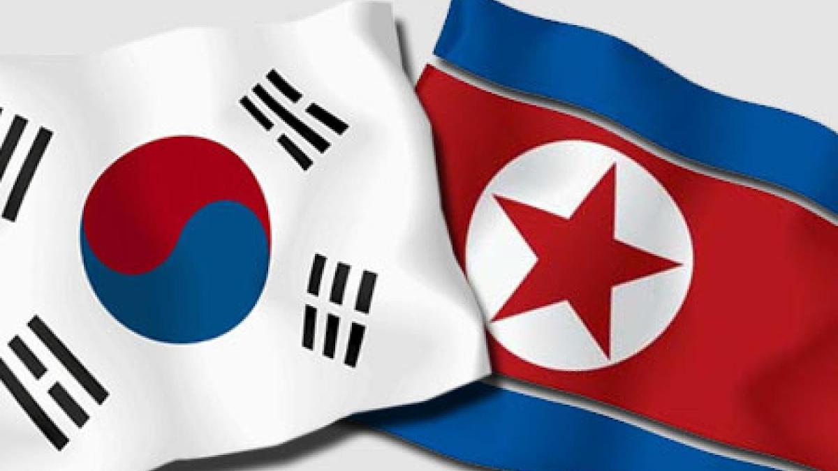 Флаги Северной и Южной Кореи