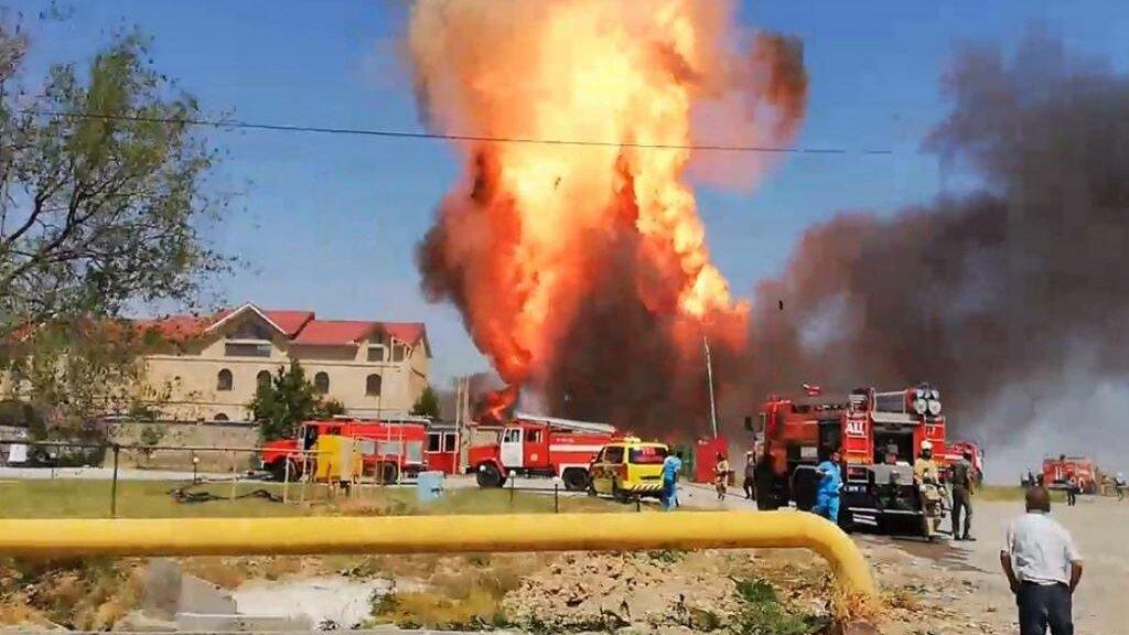 взрыв автозаправки в Атырау, Казахстан
