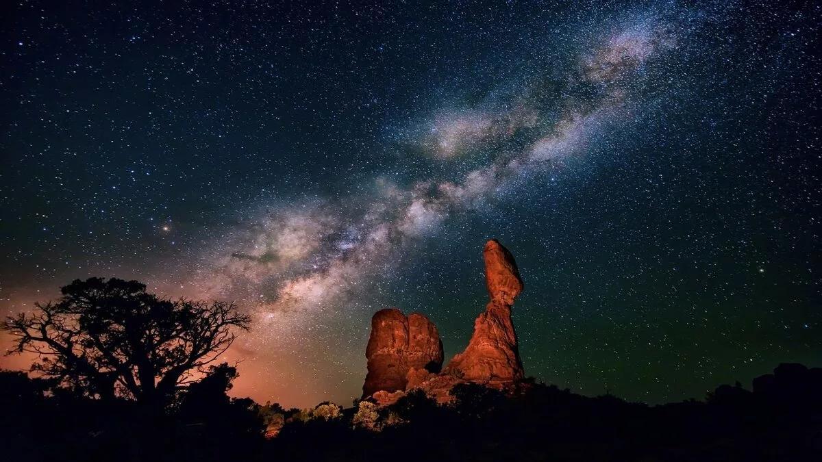 млечный путь ночь звезды