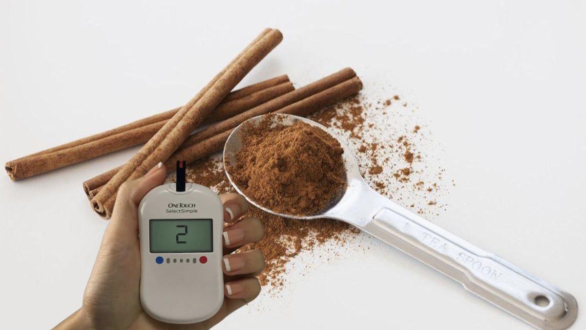 корица и глюкометр