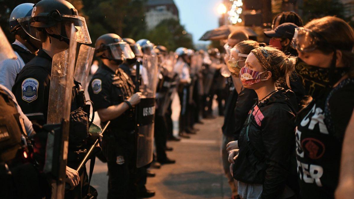 протесты в Вашингтоне, США