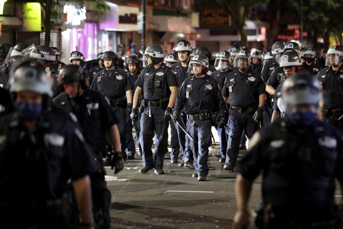разгон протестующих в США