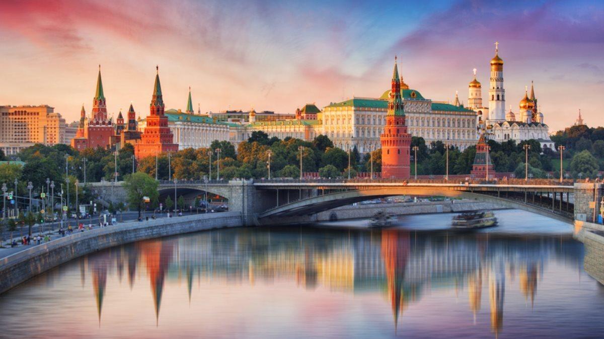 Город Москва Кремль лето погода закат