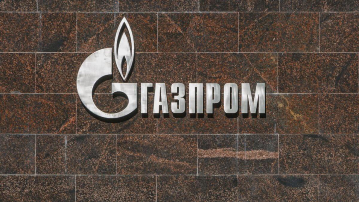 Газпром логотип стена