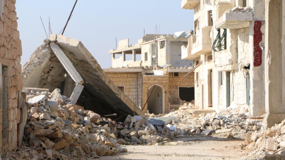Руины обстрел Сирия