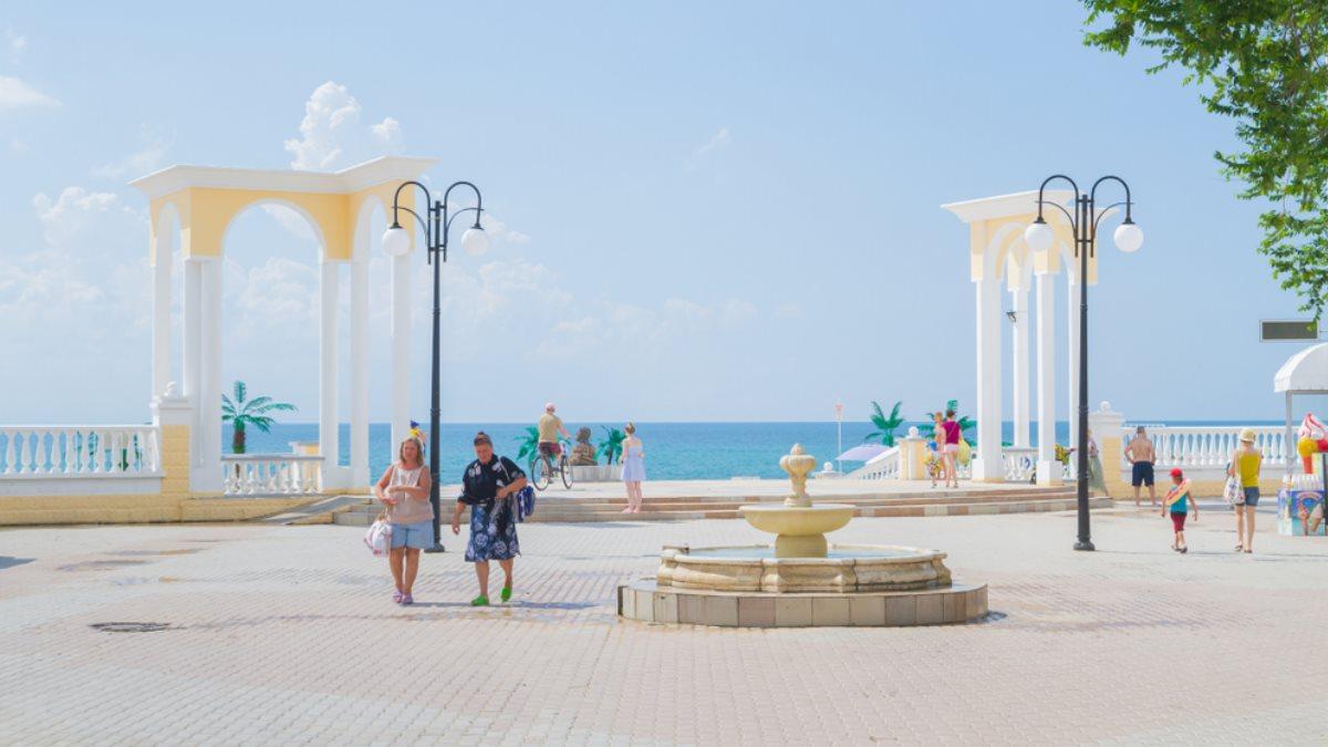 Евпатория Крым туристы море