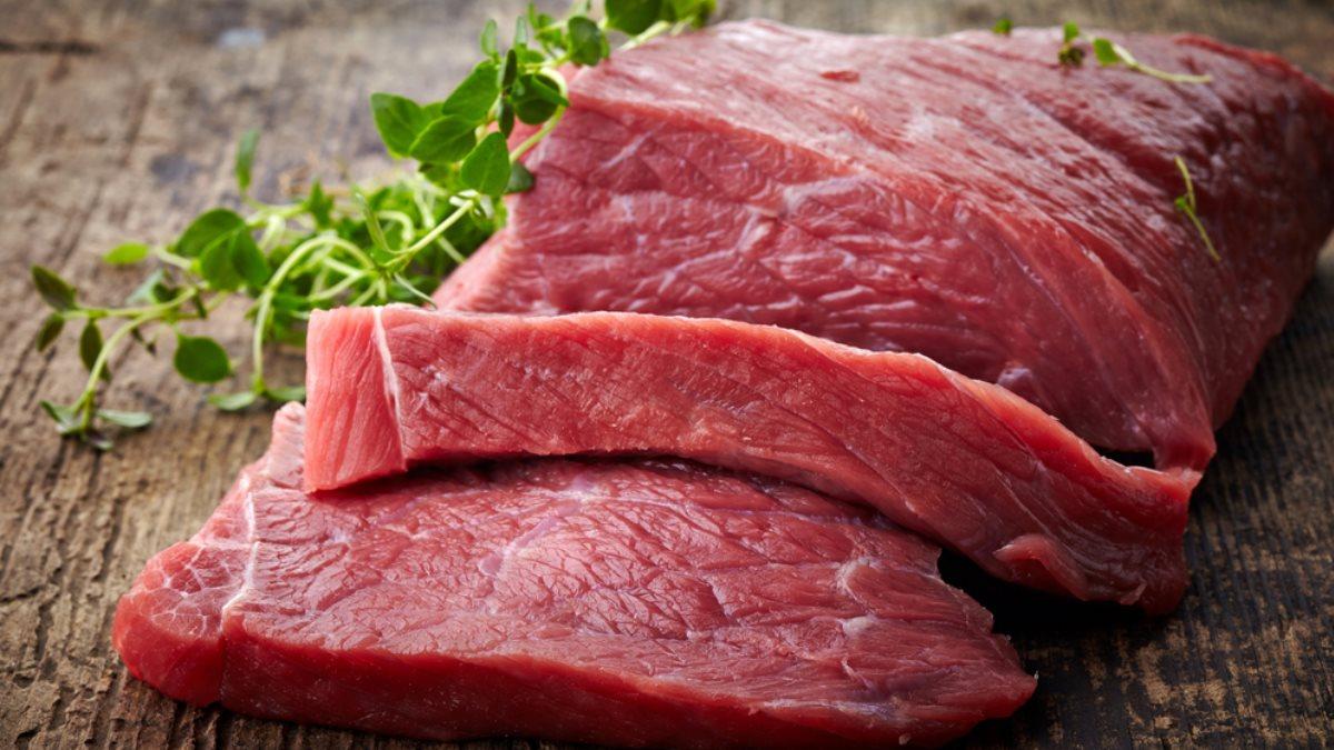 Мясо красное сырое