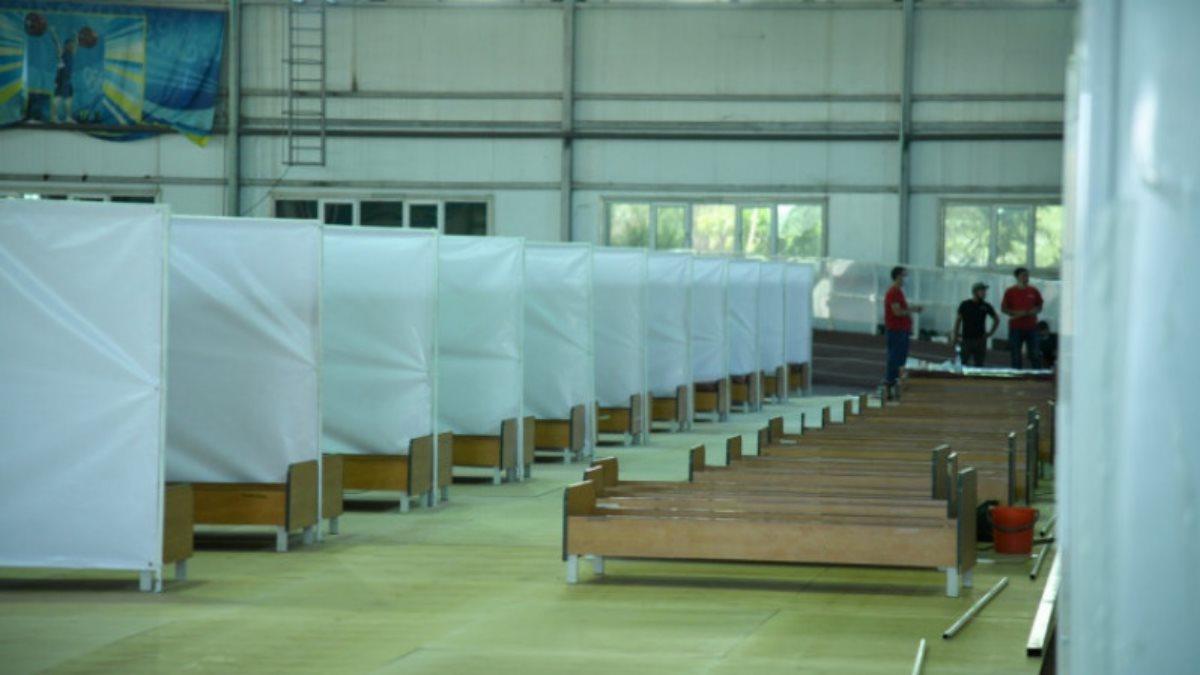 Казахстан использование стадиона в качестве стационара коронавирус