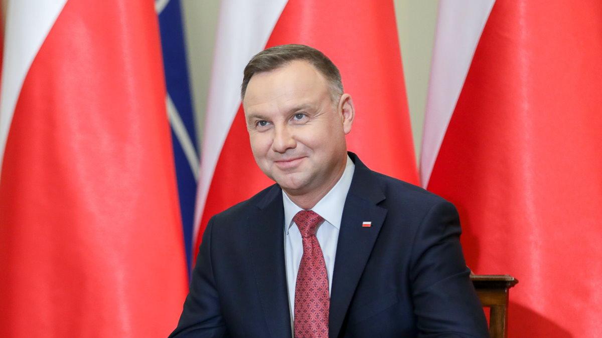 Президент Польши Анджей Дуда улыбается