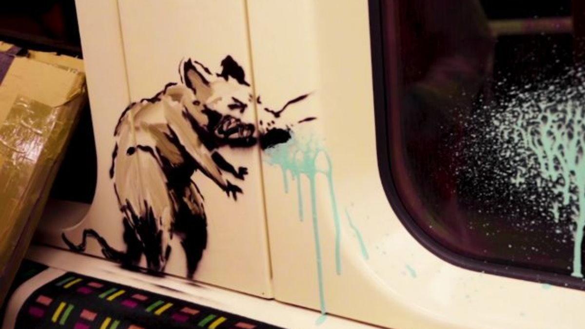 Бэнкси нарисовал крыс в метро