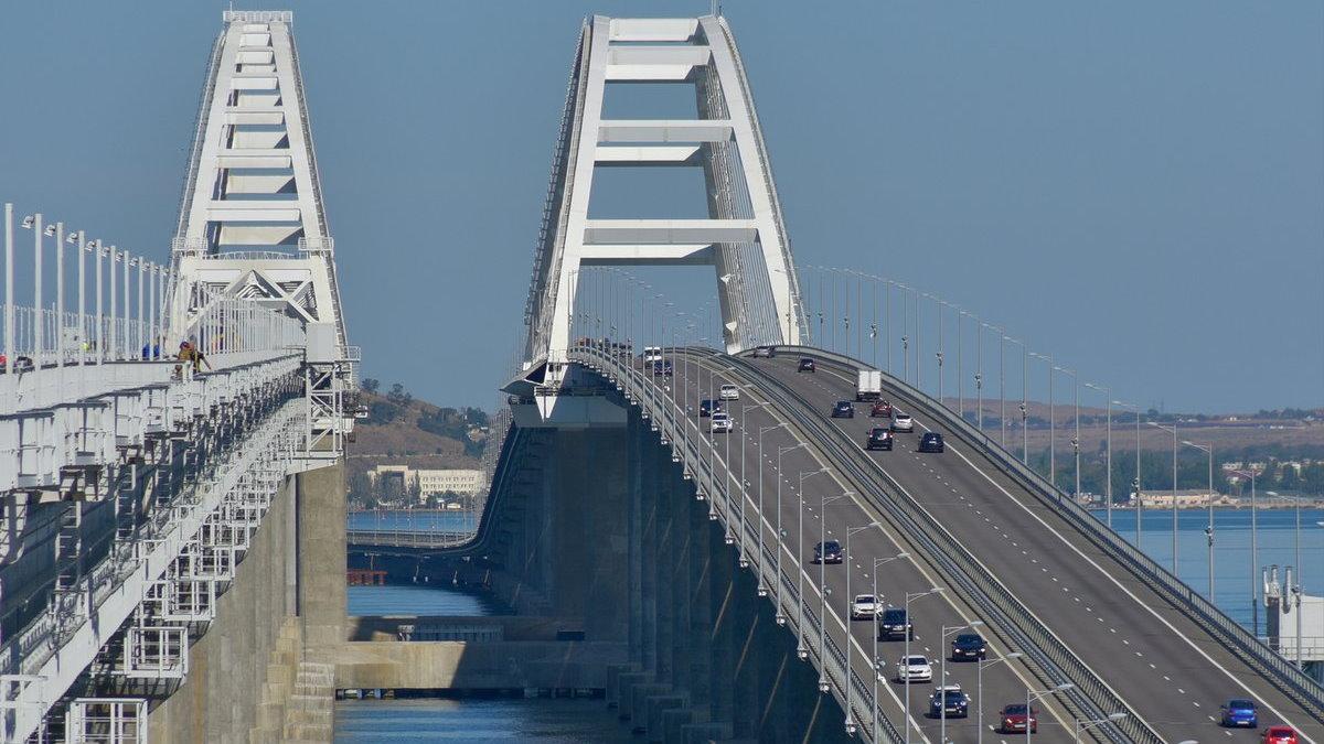 Крымский мост машины трафик один