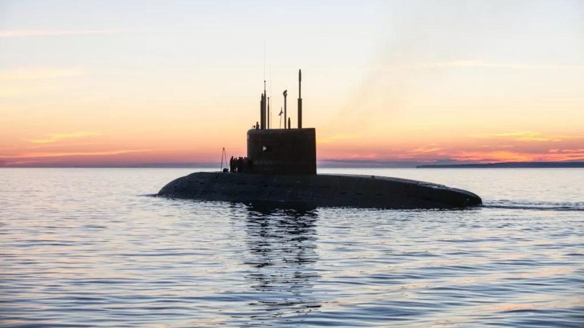 Россия Подводная лодка закат