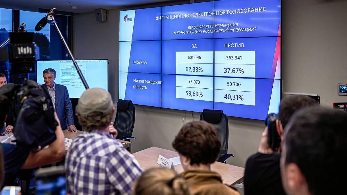 Результаты электронного голосования конституция