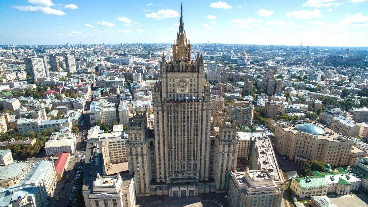 Здание МИД Министерство иностранных дел РФ шесть