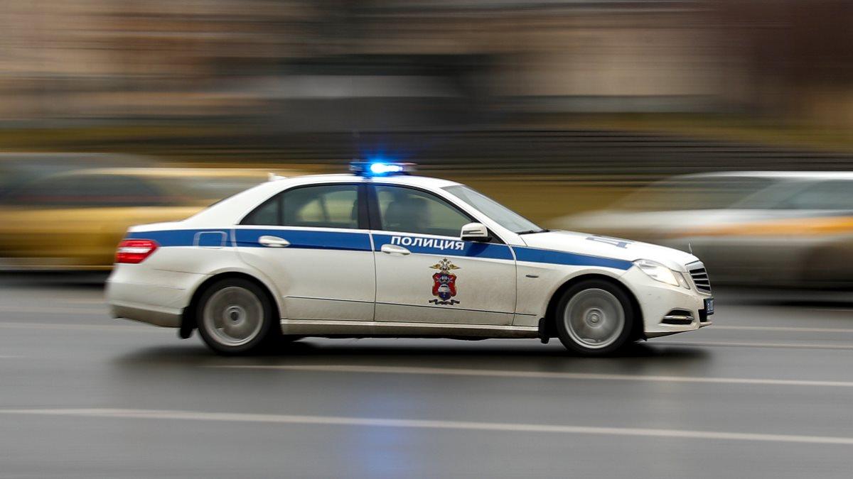 Россия Полицейская машина полиция размыто