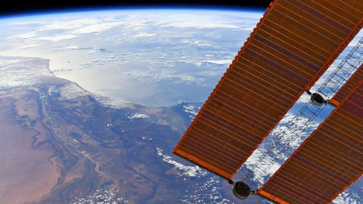 Вид на Землю с МКС Земля