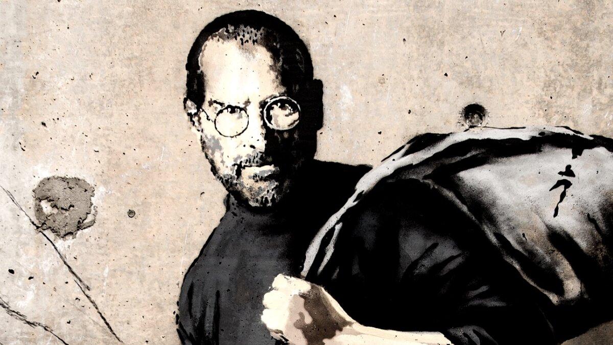Стив Джобс, фрагмент стрит-арта Бэнкси