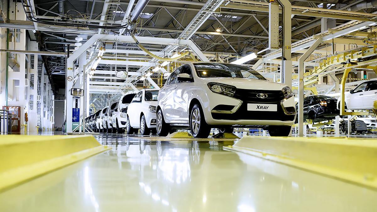 Сборка автомобилей Lada XRay завод