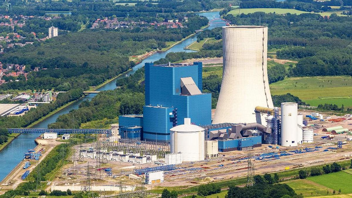 Угольная электростанция Uniper's Datteln-4 в Германии