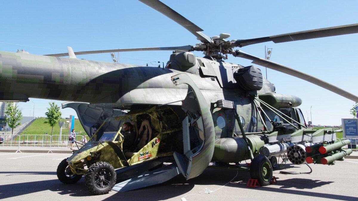 Вертолёт специального назначения Ми-8АМТШ-ВН с усиленным вооружением