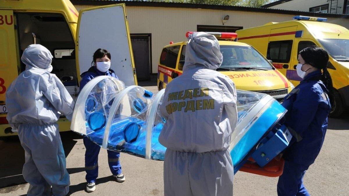 Казахстан, транспортировка больного коронавирусом