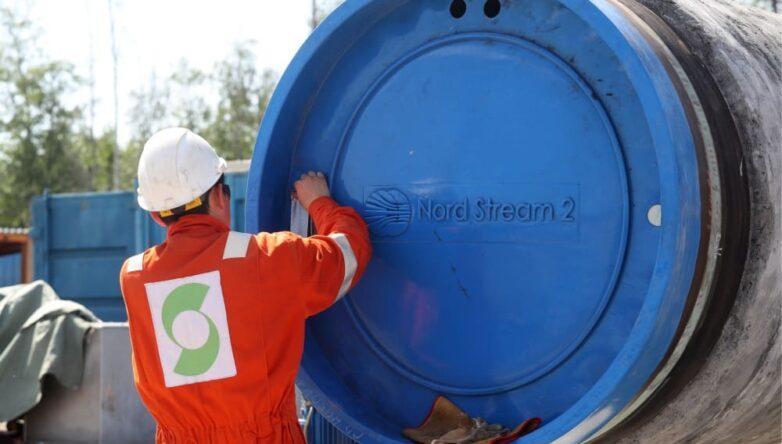 Газопровод Северный поток 2 рабочий